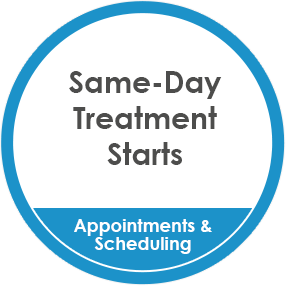 Same-Day Appointment & Treatment Starts